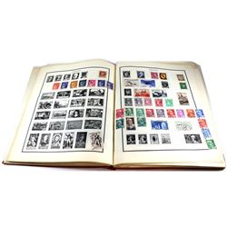 Estate Lot of Modern Postage Stamps in Album. Contains Stamps from around the World. Many Loose Stam