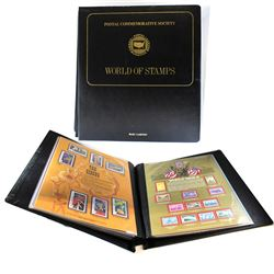 Postal Commemorative Society- World of Stamps Collection. This Album Contains 16 Commemorative Pages