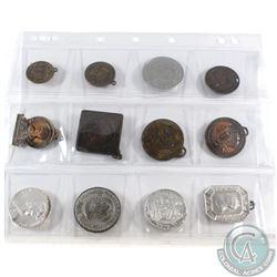 12x Miscellaneous Coronation Tokens/Medallions. 12pcs