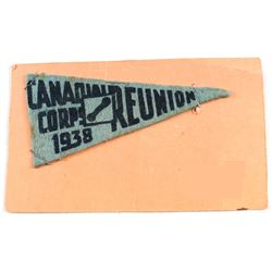 1938 Canadian Corps Reunion Patch.