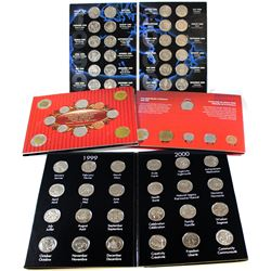 1999-2011 Canada Collector Sets. You will receive 2x 1999-2000 Millennium 25-coin sets (two Differen