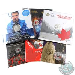 RCM Lot: 7x 2004-2017 RCM Issued Commemorative coins (Tax Exempt).: 2004 Poppy 25-cent, 2005 Canada