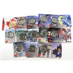2000-2001 Canada 25-cent and Loon Collector Card Lot Issued by the Royal Canadian Mint. You will rec