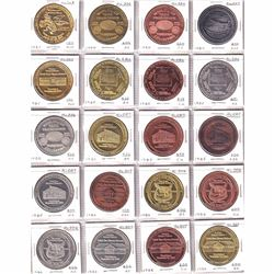 1984-1986 Wildwood Alberta Souvenir Trade Tokens with Various Finishes. 20pcs