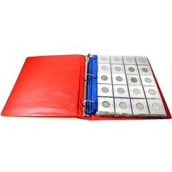 Estate Lot of 1946-2017 Canada 25-cent in Red 3-Ring Binder. 17 of the coins are Silver and includes