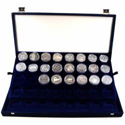 1980-2003 Canada Commemorative Silver Proof & BU Dollar Collection in blue velvet box. You will rece