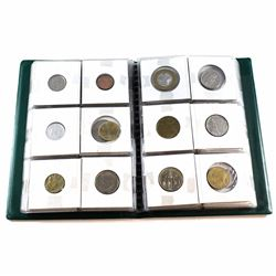 Lot of Mixed World Coins in Uni-safe Album. 60pcs