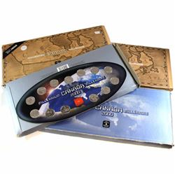1999 & 2000 Nestle & Original RCM official Commemorative Oval Shaped Display holder with Coins.