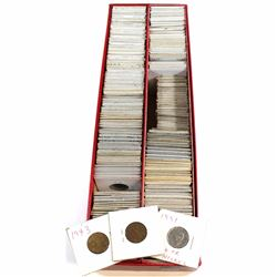 *Estate Lot of 1920's-1990's Canada 5-cent Collection. 233pcs