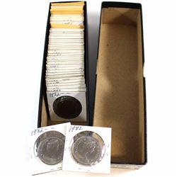 Estate Lot of Canada 1982 1c, 5c, 10c, 25c, 50c & Dollar Collection. Lot includes: 13x 1-cent, 8x 5-