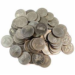 *1978-1984 Canada Commemorative Nickel Dollars. 63pcs