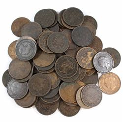 Mixed Lot of Victorian Large cents. 73pcs