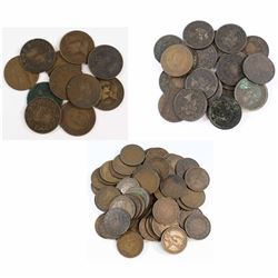 Mixed Lot of George V, Victoria & Edward VII Canada Large cents. This lot includes: 11x Edward 1-cen