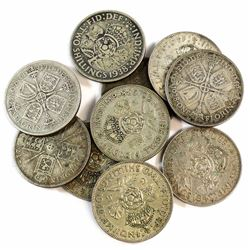 Mixed Lot of Great Britain Two Shilling, lot contains 113 grams.