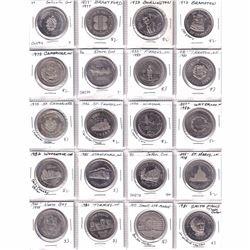 Estate Lot of 60x 1971-2004 Ontario Tokens/Medallions. 60pcs