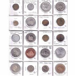 Estate Lot of 40x Miscellaneous Tokens/Medallions. 40pcs