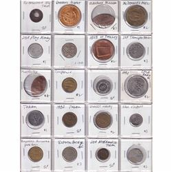 Estate Lot of 78x Miscellaneous Tokens/Medallions. 78pcs