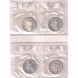 1965 Canada Silver Dollar Varieties. Lot includes Type 1 Small Beads Pointed 5, Type2 Small Beads Bl