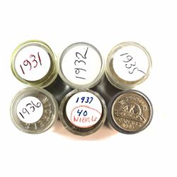 *Estate Lot of 1931-1939 Canada Circulated Full and Partially Full 5-cent Plastic Tube Rolls. You wi