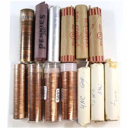 *Estate Lot of 1959-1967 Canada Mint State 1-cent rolls (some toned). Dates include 2x 1959, 1960, 2