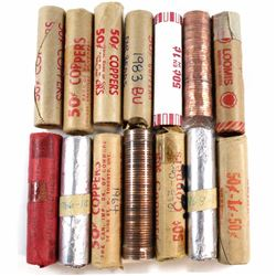 Estate Lot of 1960-2004 Canada 1-cent rolls of 50pcs. You will receive 1960, 1963, 1964, 1966, 1967,
