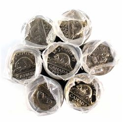 1992-1999 Canada 5-cent Original Rolls of 40pcs. You will receive one of each date from 1992-1999 (m
