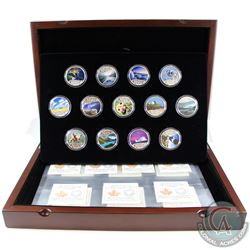 2017 $10 Celebrating Canada's 150th Fine Silver 13-coin Set in Deluxe RCM Case (Tax Exempt). You wil