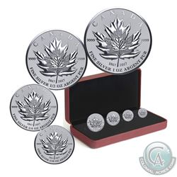 2017 Canada Maple Leaf Tribute Fine Silver 4-coin Fractional Set (Tax Exempt). Please note outer sle
