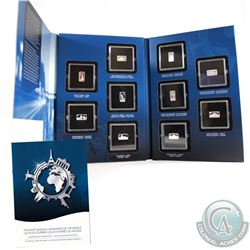 2014 Official Landmarks of the World 2.5g Fine Silver Ingot Collection (Tax Exempt). You will receiv