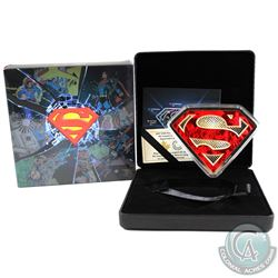 2017 Canada $100 DC Comics Originals - Superman's Shield 10oz Fine Silver Coin (Tax Exempt).