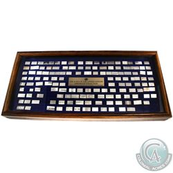 Franklin Mint Issue: Flags of the United Nations Sterling Mini-Ingot Collection. You will receive 14