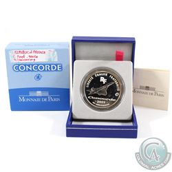 Monnaie de Paris Issue: 2009 10 Euro 40th Anniversary of the Concorde Silver Proof Coin. Please note
