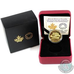 2014 Canada $100 Quebec and Charlottetown Conferences 14k Gold Coin.