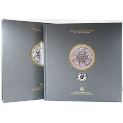 2008 RCM Centennial Book with Sterling Silver 50-cent Coin Set.