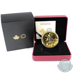 2017 Canada $50 Whispering Maple Leaves Gold Plated 3oz. Fine Silver Coin (Tax Exempt). SOLD OUT AT