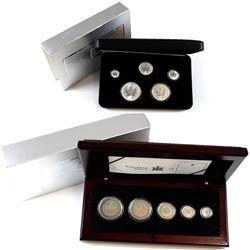 2003 Canada Hologram 5-coin Silver Maple Leaf Set & 2004 Canada RCM Privy Mark Silver Maple Leaf 5-c