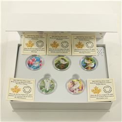 2017 $10 Birds Among Nature's Colours 4-coin Silver Set with Deluxe Box (Tax Exempt).