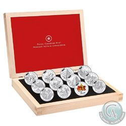 2013 Complete $10 O Canada 12-Coin Set with Deluxe RCM Issued Box (Tax Exempt). Coins may contain li
