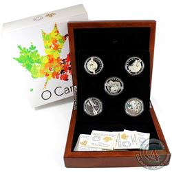 2014 Complete $25 O Canada 5-cent Set with Deluxe RCM Issued Box (Tax Exempt). Coins may contain fai