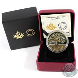 2018 Canada $20 Tree of Life Fine Silver Coin (Tax Exempt). SOLD OUT AT THE MINT!