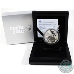 Russia Mint Issue: 2014 Sochi Olympics 3 Roubles Nordic Combined Sterling Silver Proof Coin.