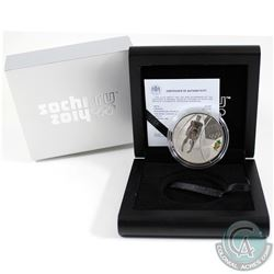 Russia Mint Issue: 2014 Sochi Olympics 3 Roubles Luge Sterling Silver Proof Coin.