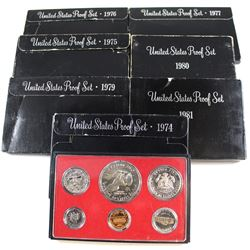 United States Mint Issue: Group Lot of 1974-1981 USA Proof Sets. You will receive all dates except 1