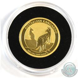 Perth Mine Issue: 2016 Australia $25 Kangaroo 1/4oz .9999 Fine Gold Coin in Capsule (Tax Exempt)
