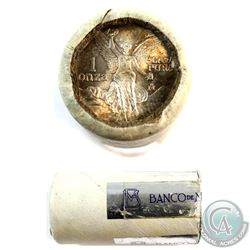 Mexico Mint Issue: ORIGINAL 1984 Mexico 1oz .999 Fine Silver Libertad Roll of 20pcs from the Bank of