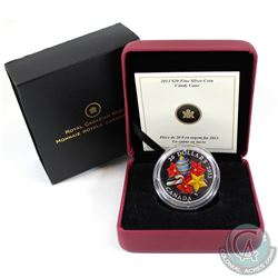 2013 Canada $20 Candy Cane Murano Glass Fine Silver Coin (Tax Exempt)