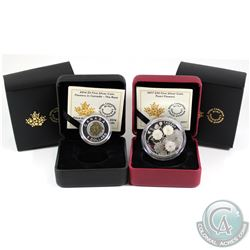 2014 Canada $5 Flowers in Canada - Rose Fine Silver and Niobium & 2017 $20 Pearl Flowers Fine Silver