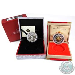 2000 Dragon & 2011 Rabbit Canada $15 Lunar Sterling Silver Coins. The Dragon coin comes encapsulated