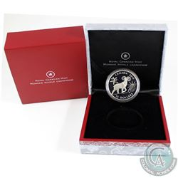 2015 Canada $15 Zodiac Year of the Sheep Fine Silver Coin (capsule lightly scratched & missing COA).