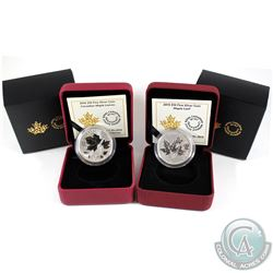 2015 Canada $10 Maple Leaf & 2016 $10 Canadian Maple Leaves Fine Silver Coins. 2pcs (TAX Exempt)